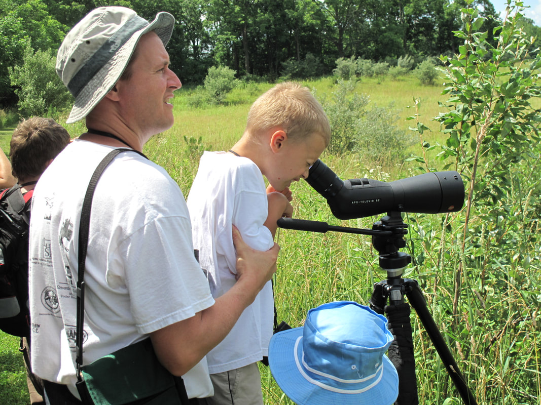 Above: What it's all about: Bringing the community out to see nesting bobolinks and other natural phenomena at Byers Woods, which is designated an Important Birding Area. Photo by Irv Oslin.