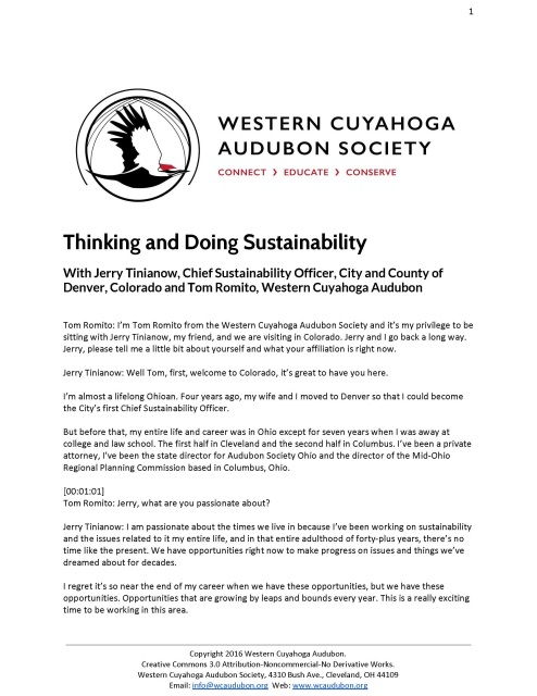 Thinking and Doing Sustainability with Jerry Tinianow and